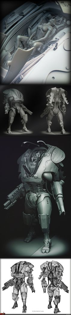 RU -> Robots -> SKRobot Really got me to laugh on this but this piece inspires me. Zbrush, Game Design, 3d Character, Character Design, Cgi, Digital Sculpting, Mekka, Ex Machina, Sci Fi Characters