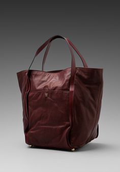 POUR LA VICTOIRE Kimbel Square Shopper in Oxblood at Revolve Clothing