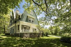1890 Cottage For Sale In Kennebunkport Maine Kennebunkport Maine, Gambrel Roof, Roof Lines, Historical Architecture, Old House Dreams, Real Estate Companies, Cottage Homes, House Tours, Outdoor Spaces