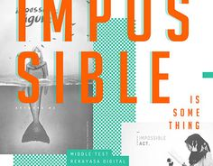 "Check out new work on my @Behance portfolio: ""Impossible Is Something - Cover Design"" http://on.be.net/1NJQJH9"