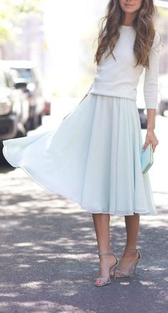 I'm loving the Flowy midi skirt although I'm 5'2 so I'm not sure if this length would be good on me.