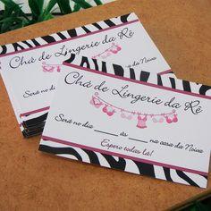 Convite Chá de Lingerie Zebrinha pequeno