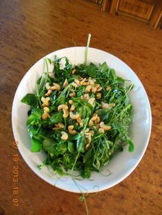 Wilted Pea Shoots, a fast stir-fry!