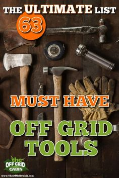 We're often asked which tools we've personally used and recommend when building an off grid home. Well, we've got you covered! We crafted a detailed tools list of 63 different tools we use off grid and broken them down into six sections. Popular Woodworking, Woodworking Crafts, Woodworking Plans, Woodworking Furniture, Woodworking Jigsaw, Woodworking Quotes, Grid Tool, Off Grid Homestead, Homestead Living