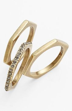Rebecca Minkoff Stackable Rings (Set of 3) | Nordstrom