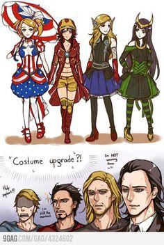 Avengers in Anime...