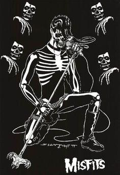 Misfits Danzig era logo crimson ghost. #music art #posters http://www.pinterest.com/TheHitman14/music-poster-art-%2B/