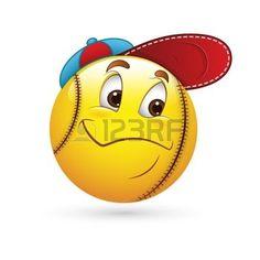 smiley+face+cartoon%3A+Smiley+Emoticons+Gezicht+Honkbal