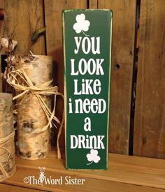3x12 Word Block St Pattys Day with by TheWordSister on Etsy, $20.00