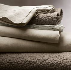 Vintage-Washed Belgian Linen Sheet Set - didn't know they made linen sheets. Like swaddling cloths for grown ups!