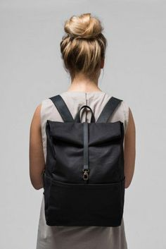 sac a dos noir design femme pour 2016, les dernières tendances chez le sac a dos femme