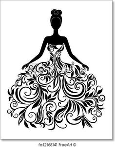 Silhouette Illustrations and Clipart. Silhouette royalty free illustrations, and drawings available to search from thousands of stock vector EPS clip art graphic designers. Silhouette Cameo, Silhouette Projects, Dress Silhouette, Woman Silhouette, Silhouette Vector, Silhouette Pictures, Fairy Silhouette, Princess Silhouette, Flower Silhouette