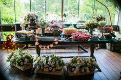 rustic industrial wedding decor