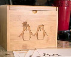 Recipe Box - Pair of Penguins. $65.00, via Etsy.  OH MY, I sooo want this box!!!!!!!!!!!!!!!!!!!!!!!!!!!!!!!