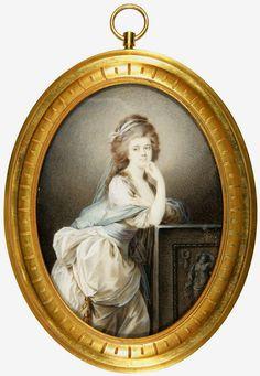 Miniature of Kraków's dancer Urszula Kaczkowska by Wincenty de Lesseur (Lesserowicz), ca. 1795, Muzeum Sztuk Użytkowych w Poznaniu