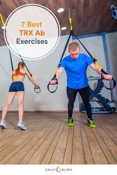 Sit-ups aren't the only way to strengthen your core. This TRX ab workout has seven TRX exercises designed to challenge your abs. via @dailyburn