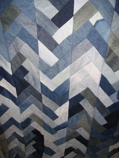 old jeans quilt by crankydee, via Flickr