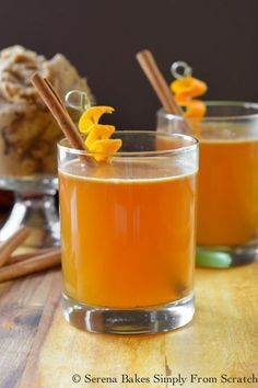 Hot Apple Cider Buttered Whiskey