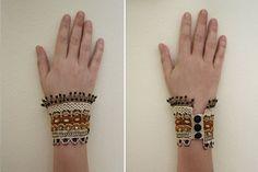 Pulsera brazalete con cuentas pulsera pulsera por angelicadelic