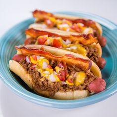 the chew | Michael Symon - Chili/Bacon/Cheese Dog (includes a great recipe for chili)