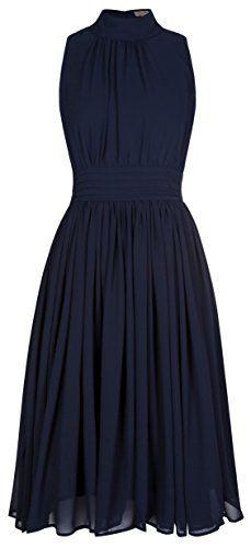 Lindy Bop 'Kitty' Vintage 1950's Chiffon Rockabilly Swing Dress (M, Blue) Lindy Bop http://smile.amazon.com/dp/B00EOPMZEQ/ref=cm_sw_r_pi_dp_PF9Tub056D9N7