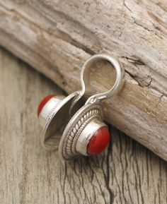 Sterling Silver and Coral Mala Counter, Handmade