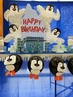 Penguin themed Birthday Party