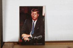 Vintage JFK Postcard by Fleaosophy on Etsy, $5.50