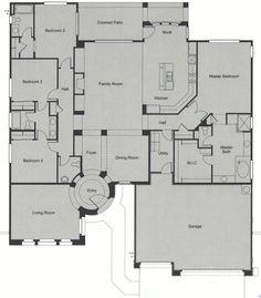 Anthem Country Club Anthem Arizona Del Webb Community Builder Floor Plan Monterey • 2977 Square Feet, Single Story • 4 Bedroom, Bath, 3 Car Garage