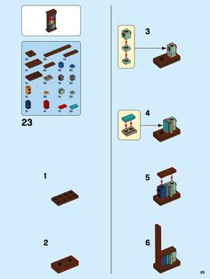 LEGO 10270 Bookshop instructions displayed page by page to help you build this amazing LEGO Creator Expert set Lego Creations Instructions, Cool Lego Creations, Lego Zoo, Lego Hogwarts, Cuadros Star Wars, Lego Furniture, Lego Challenge, Lego Sculptures, Lego Activities