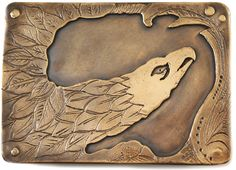 "Eagle Belt Buckle, handmade in the USA by Dreadnought of cast bronze. Measures 3"" x 2 1/8"". Makes a handsome statement!"