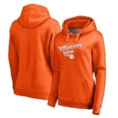 Clemson Tigers Fanatics Branded Women's Team Mom Pullover Hoodie - Orange
