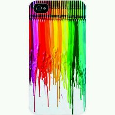 Dripping crayons iPhone case