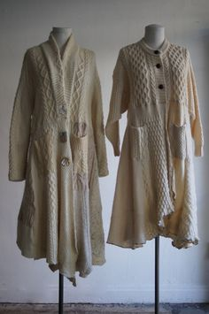 Beautiful white sweater coats. omg!!! these are just awesome!!!!!!!!!!!!!!
