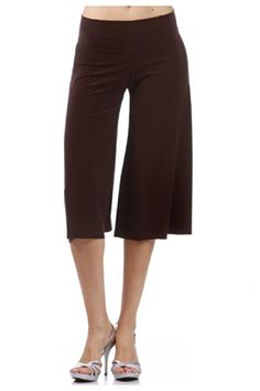 Would women's long shorts serve as pants for Ashley?!  G2 Chic Women's Soft Capri Length Palazzo Stretch Pants(BTM-PNT,BRN-S) G2 Chic http://www.amazon.com/dp/B00KSFF7CI/ref=cm_sw_r_pi_dp_FHrLub08WHDY2