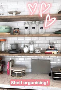 Inside the pantry Zoella has spent time organising cookbooks, storage jars and baking goods with quirky labels such as 'unicorn tears' and 'unicorn poop'
