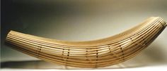 David Trubridge - Body Raft in Steam-Bent Ash and Hoop Pine Plywood, 2000  I took this to Milan in 2001 and it changed my life when taken up by Cappellini for manufacture.