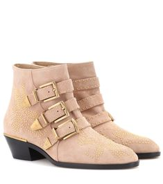 0952561a5 Chloé - Susanna suede ankle boots - Channel a glam-rock attitude with  Chloé s studded