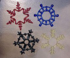 Fused Glass Snowflakes, very geometric. By flutterbybutterfly.etsy.com Fused Glass, Snowflakes, Glass Art, Mosaic, My Arts, Symbols, Hot, Christmas, Etsy