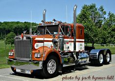 Tricked Out Big Rigs | Kenworth Show Rig, Classic