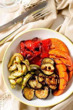 Roasted Vegetables with Balsamic Glaze   Healthy side dish recipe.