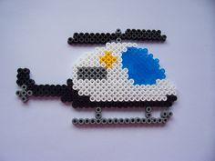 Helicopter / hama perler beads / Bügelperlen