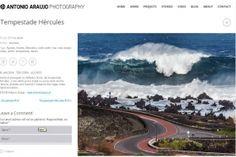 Manhã de grandes ondas nos Açores.