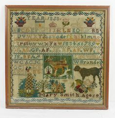 A 19th Century Sampler Stitched By Mary Smith & Dated 1888