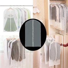 60 x juego de ropa de 136cm vestido chaqueta ropa sweater capa a prueba de polvo traslúcida cubierta de la