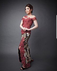 Kebaya Lace, Kebaya Brokat, Batik Kebaya, Dress Brokat, Kebaya Dress, Batik Dress, Lace Dress, Model Kebaya Modern, Kebaya Modern Dress