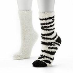 SO Zebra Slipper Socks $6.99