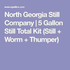 5 Gallon Still + Gallon Worm + 1 Gallon Thumper Copper Still, Worms, Be Still, Georgia, Alcohol, Kit, Rubbing Alcohol, Copper Moonshine Still