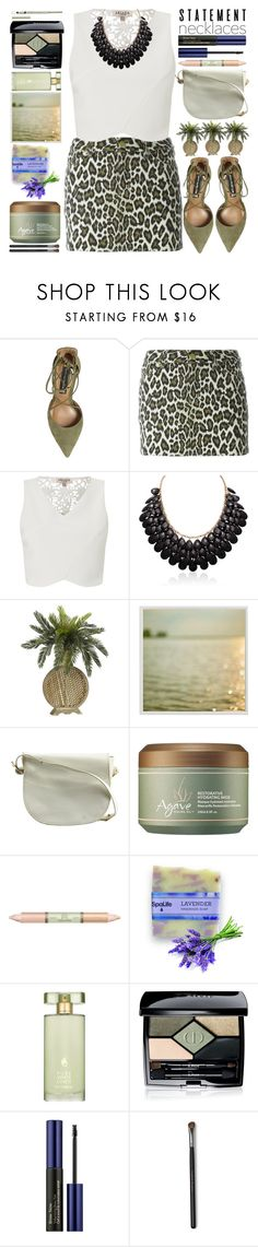 """Collared!Statement Necklaces"" by grozdana-v ❤ liked on Polyvore featuring Steve Madden, Jean-Paul Gaultier, Lipsy, Pottery Barn, Judith Leiber, Agave, Pixi, Estée Lauder, Christian Dior and Origins"