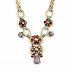 Classic Gray Water Drop Resin Copper Plated Necklaces (1 Pc) – USD $ 30.99